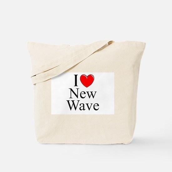 """I Love (Heart) New Wave"" Tote Bag"