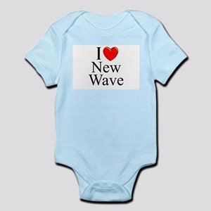 """I Love (Heart) New Wave"" Infant Bodysuit"