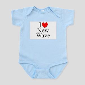 """""""I Love (Heart) New Wave"""" Infant Bodysuit"""