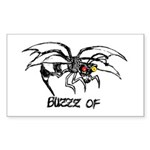 Buzz of Rectangle Sticker 50 pk)