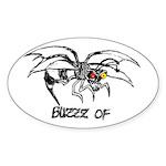 Buzz of Oval Sticker (50 pk)