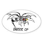 Buzz of Oval Sticker (10 pk)