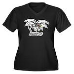 Buzz of Women's Plus Size V-Neck Dark T-Shirt