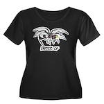 Buzz of Women's Plus Size Scoop Neck Dark T-Shirt