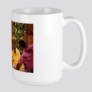 Jamaican Domino Players Large Mug