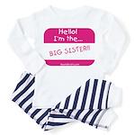 I'm the big sister Toddler Pajamas
