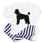 Poodle Silhouette Toddler Pajamas