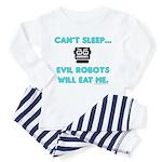 Can't sleep, evil robots Toddler Pajamas