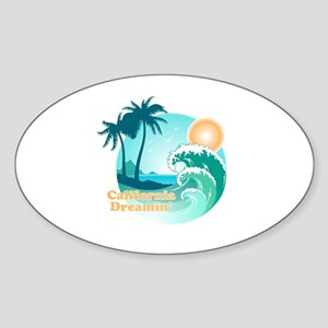 California Dreamin Sticker (Oval)