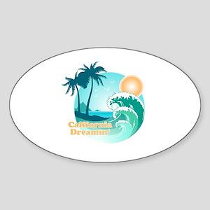 California Dreamin Sticker (Oval)