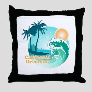 California Dreamin Throw Pillow
