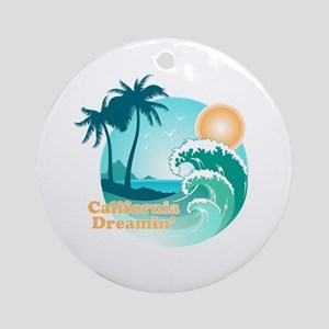 California Dreamin Round Ornament