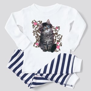 Cute Blue-eyed Tabby Cat Toddler Pajamas 7a4ccddf4