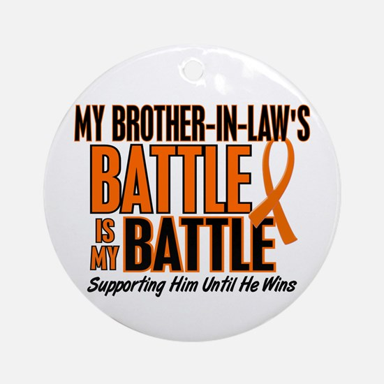 My Battle Too (Brother-In-Law) Orange Ornament (Ro