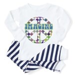 Retro Peace Sign Imagine Toddler Pajamas