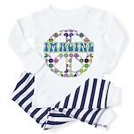 Retro Peace Sign Imagine Toddler Pajamas