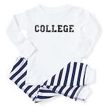 COLLEGE - Retro Baby / Toddler Pajamas