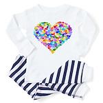 Rainbow Heart of Hearts Toddler Pajamas