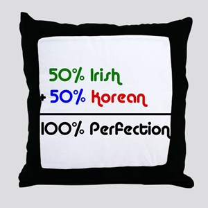 Irish & Korean % Throw Pillow