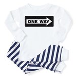 One Way Sign - Right - Toddler Pajamas