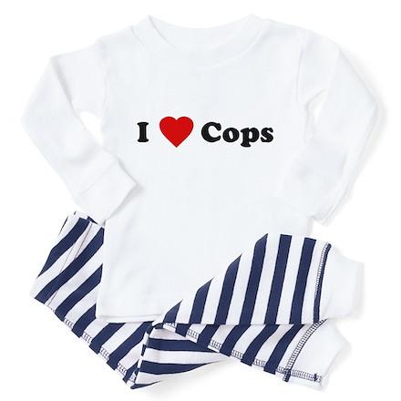 I Love [Heart] Cops Toddler Pajamas