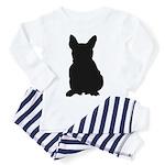French Bulldog Silhouette Toddler Pajamas