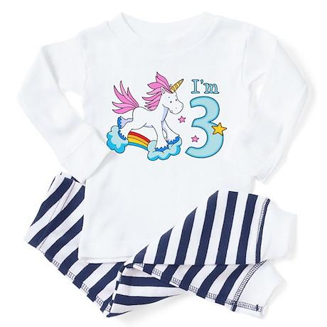 Rainbow Unicorn 3rd Birthday Toddler T Shir