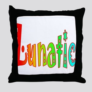 Lunatic Throw Pillow