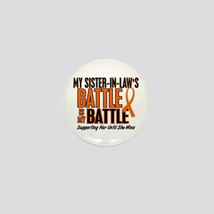 My Battle Too (Sister-In-Law) Orange Mini Button