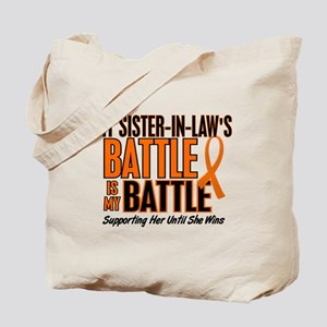 My Battle Too (Sister-In-Law) Orange Tote Bag
