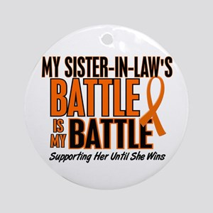 My Battle Too (Sister-In-Law) Orange Ornament (Rou