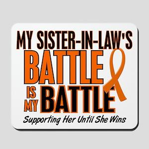 My Battle Too (Sister-In-Law) Orange Mousepad