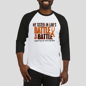My Battle Too (Sister-In-Law) Orange Baseball Jers
