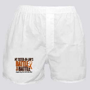 My Battle Too (Sister-In-Law) Orange Boxer Shorts