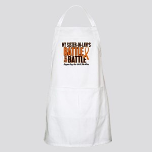 My Battle Too (Sister-In-Law) Orange BBQ Apron