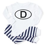Germany - D - Oval Toddler Pajamas