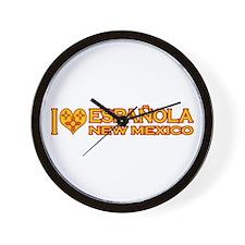 I Love Espanola, NM Wall Clock