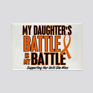 My Battle Too (Daughter) Orange Rectangle Magnet