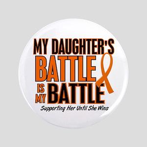 """My Battle Too (Daughter) Orange 3.5"""" Button"""