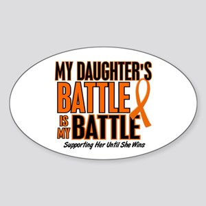 My Battle Too (Daughter) Orange Oval Sticker