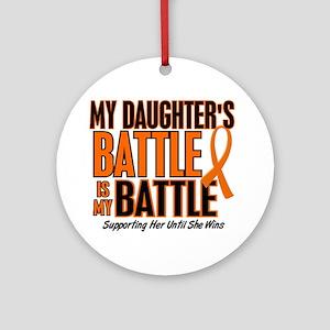 My Battle Too (Daughter) Orange Ornament (Round)