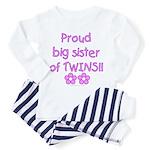 Big sister of twins Toddler Pajamas