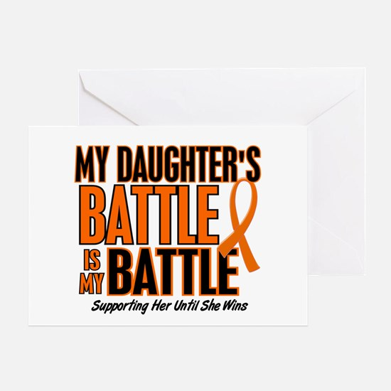 My Battle Too (Daughter) Orange Greeting Card