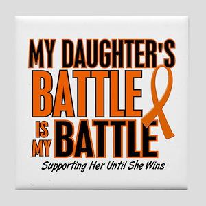 My Battle Too (Daughter) Orange Tile Coaster