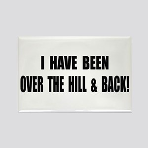 Over The Hill & Back Rectangle Magnet