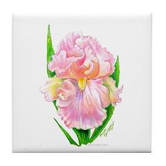Pink Iris Tile Coaster