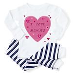 I Love Mommy Baby Pajamass