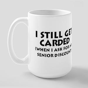 Humorous Senior Citizen Large Mug