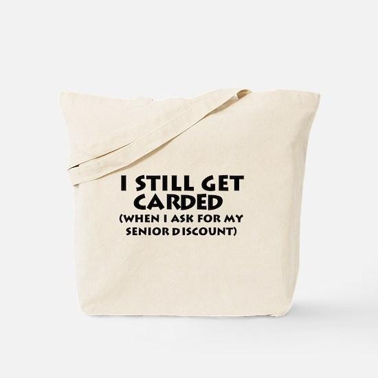 Humorous Senior Citizen Tote Bag