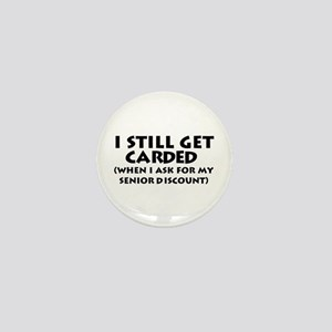 Humorous Senior Citizen Mini Button